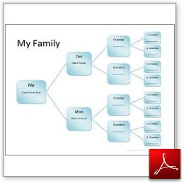 Free Family History Chart for Kids