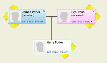 Geni Family History of Harry Potter
