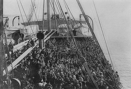 Immigrants on Atlantic Liner