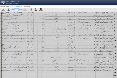 Search census records